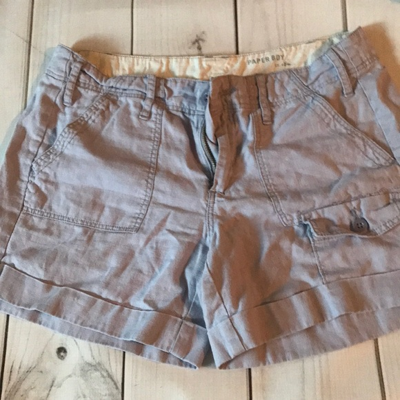 Anthropologie Pants - Paper boy Linen lilac shorts size 6